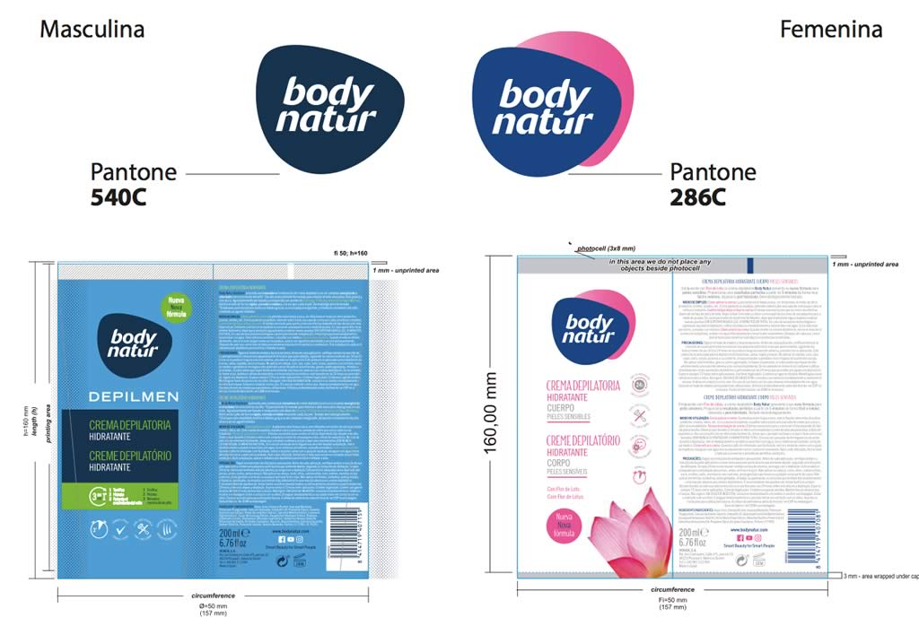 Packaging Body Natur